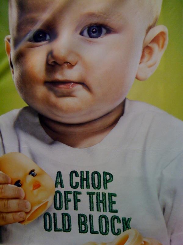 cabeza muneca poster bebe comic con 2009